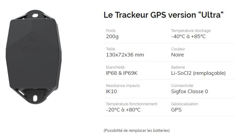 Taceur GPS ULTRA photo et caractéristiques