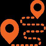 pictogramme itinéraire système de géolocalisation
