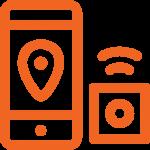 icône d'une application mobile et d'un traceur GPS