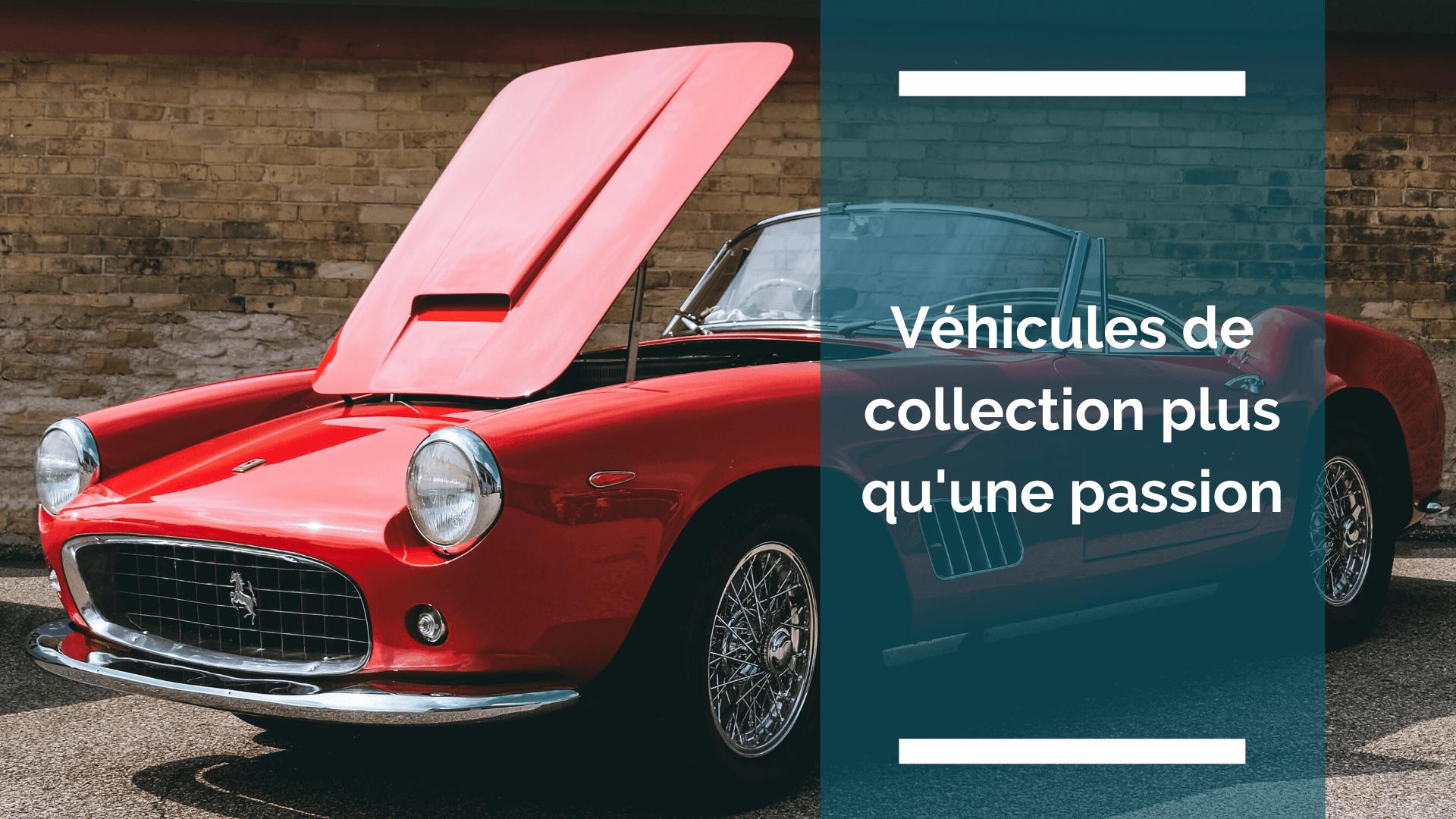 photo d'une voiture de collection de marque Ferrari rouge