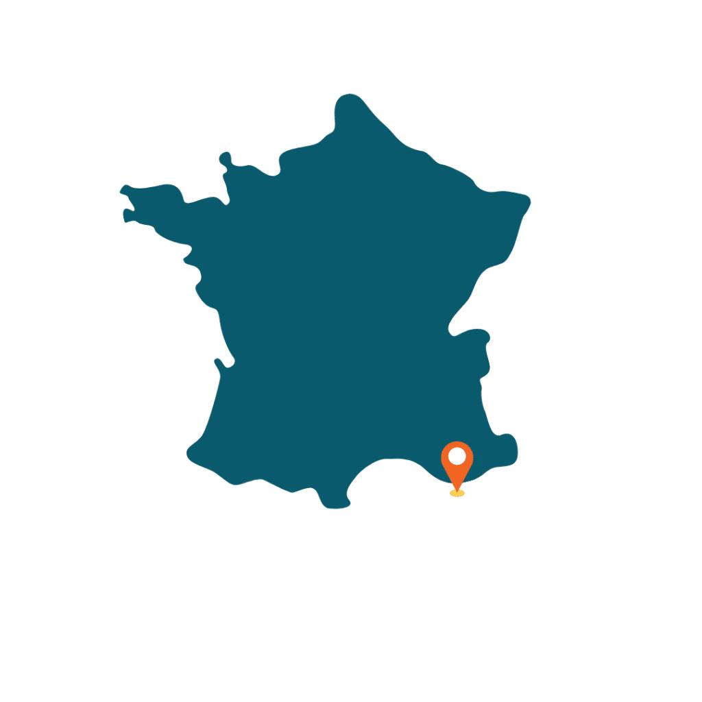 Localisation de l'île de Porquerolles sur la carte de France